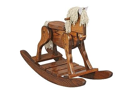 Amazoncom Amishmade Wooden Rocking Horse Toys Games