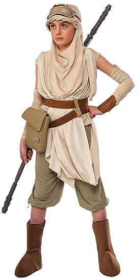 f674fff9a90f0 Star Wars The Force Awakens Premium Girl's Rey Costume