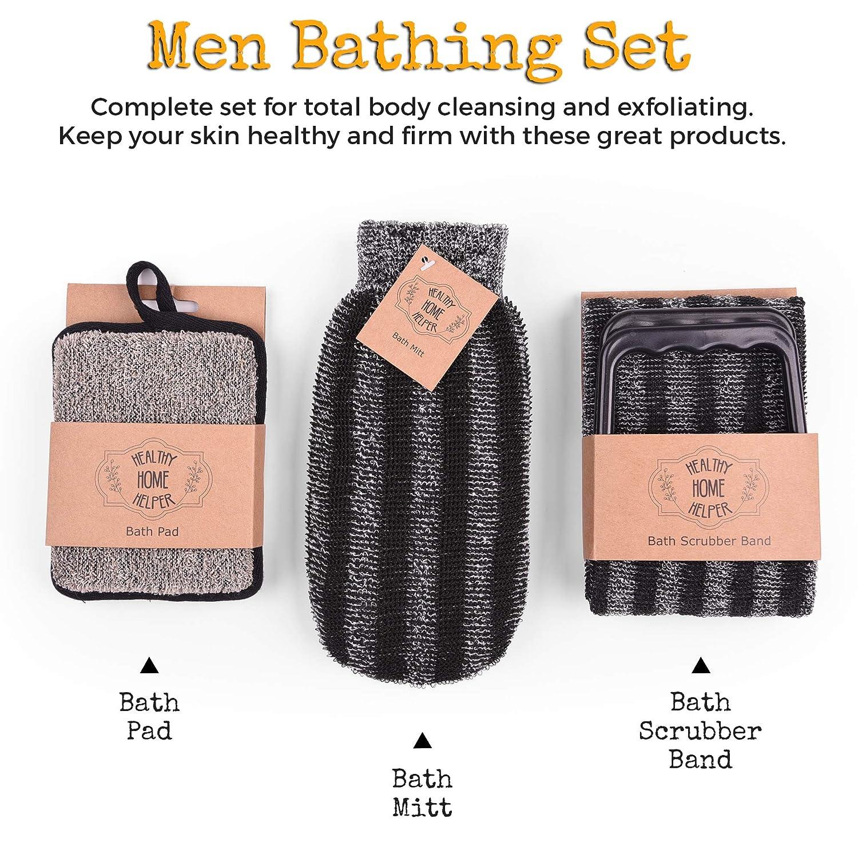 Healthy Home Helper Men Bath Sponges set