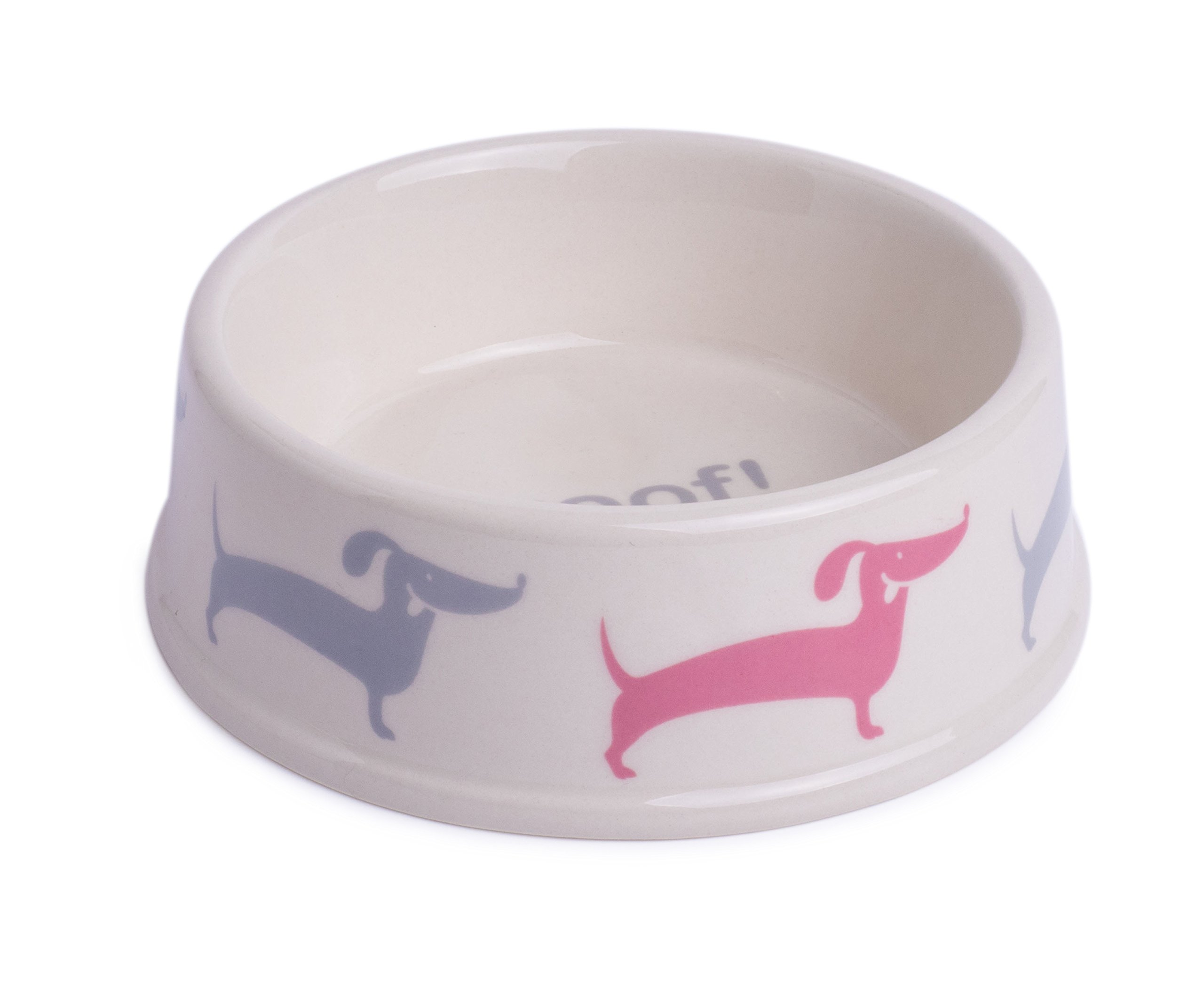 Petface Deli Collection Ceramic Pet Bowl | For Food & Water | Pet Bowl for Dogs & Cats | Dishwasher Safe | Cream | Small
