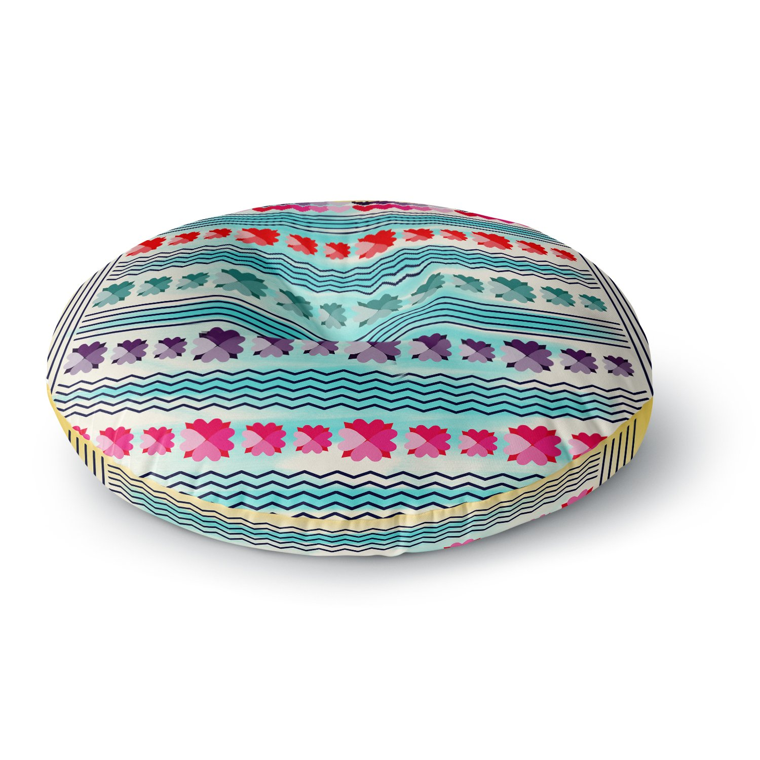 Kess InHouse Frederic Levy-Hadida Walk Off The Colors Multicolor Zebra 26 Round Floor Pillow