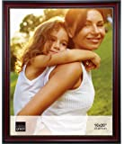 Kiera Grace Lucy Picture Frame, 16 by 20-Inch, Dark Brown with Gold Beading