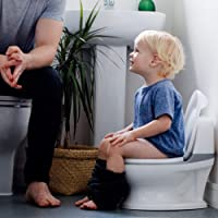 Nuby My Real Potty Training Toilet with Life-Like Flush Button & Sound for Toddlers & Kids
