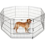 ALEKO 36 Inch Dog Playpen Pet Kennel Pen Exercise Cage Fence 8 Panel