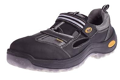 Sicherheitsschuhe S1 Arbeitsschuhe DIN EN ISO 20345 Größe 41 Leder grau// schwarz