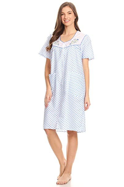 Lati Fashion 2011 Women Pajamas Night Gown Sleepwear Night Shirt (Blue 8ef0f8a59