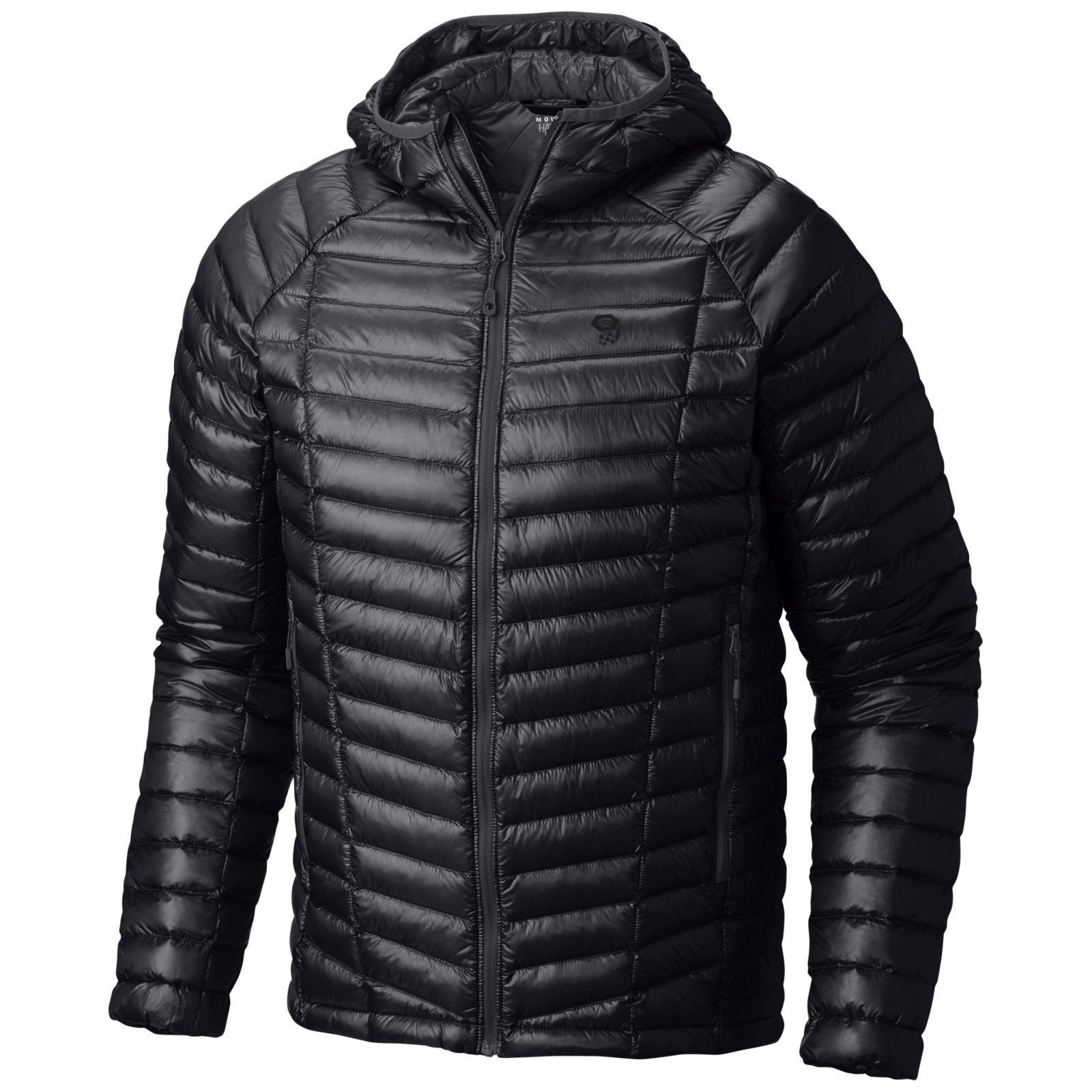 Mountain Hardwear Ghost Whisperer Down Hooded Jacket - Men's Black Small by Mountain Hardwear