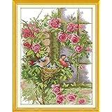Anself DIY クロスステッチ 刺繍キット 14CT鳥の家族のパターン 37*47cm ホームの装飾
