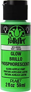 product image for FolkArt Glow in the Dark Acrylic Paint (2 Ounce), Green