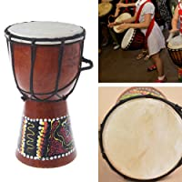 1Pc 4 inch Professional African Djembe Drum Bongo Wood Good Sound Musical Instrument