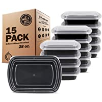 Freshware Meal Prep Containers, Bento Box, Plastic Containers, Food Storage Containers, Lunch Boxes, Portion Control, 21 Day Fix