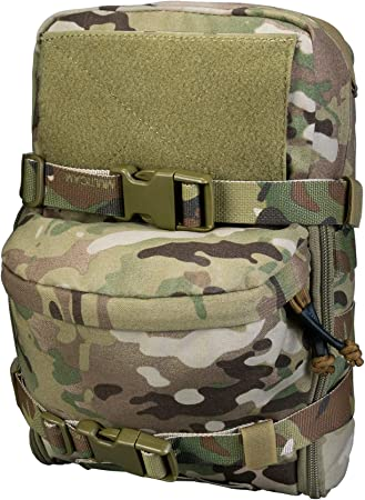 IDOGEAR Mini Tactical MOLLE Hydration Pack Water Reservoir Bag Outdoor Water Bladder Carrier Pack for Tactical Vest Backpack