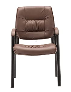 BTEXPERT Premium PU Leather Office Reception Side Conference Chair, Brown