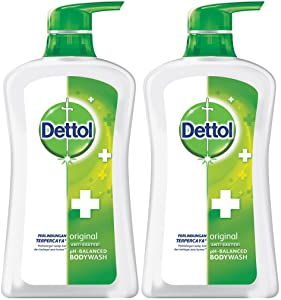 Dettol Anti Bacterial pH-Balanced Body Wash, Original, 21.1 Oz/625 Ml (Pack of 2)