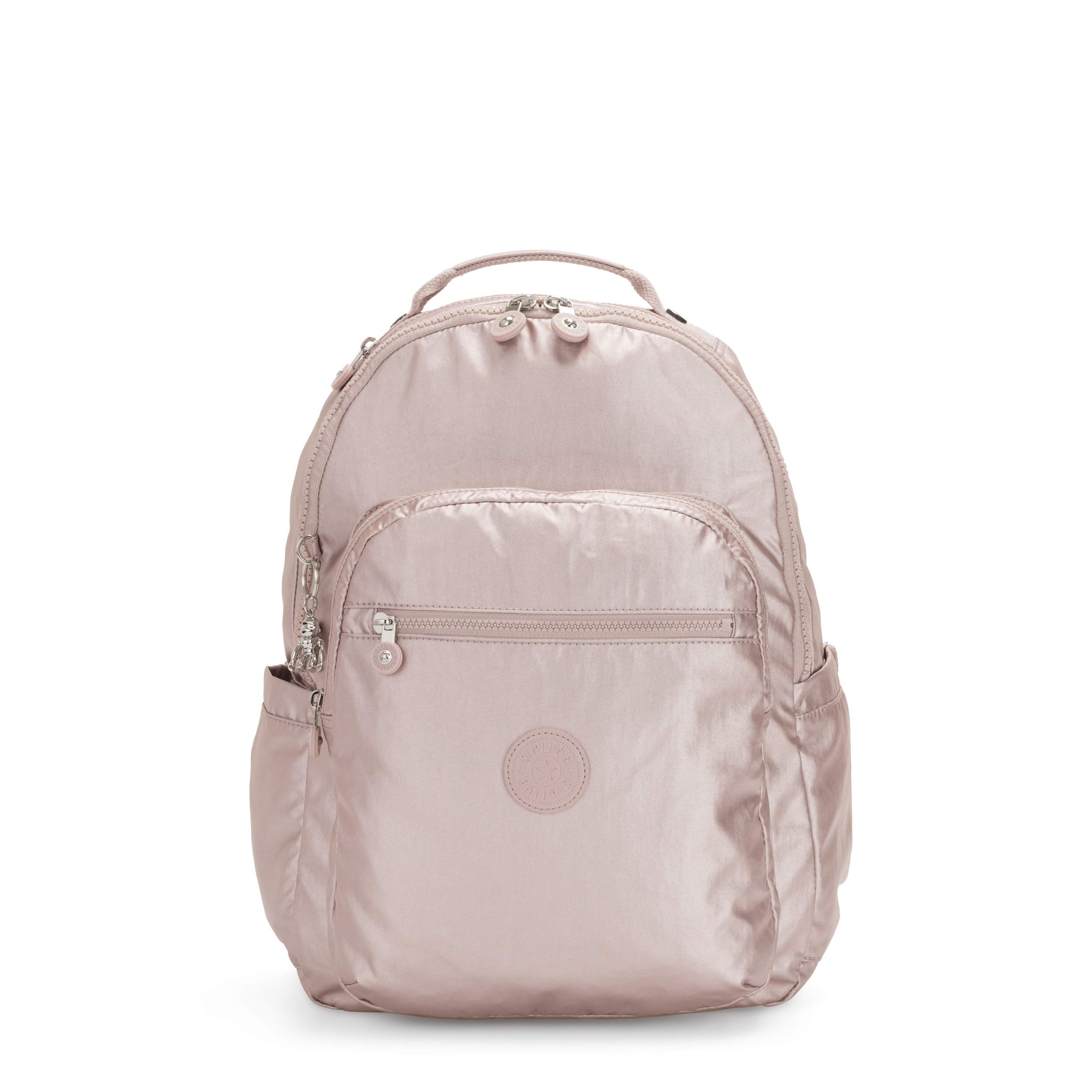 Kipling Seoul Laptop Backpack, cloud Metal