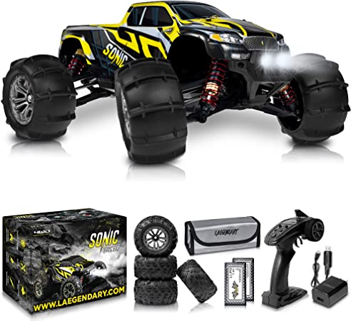 Amazon Com 1 16 Brushless Large Rc Cars 55 Kmh Speed Kids And Adults Remote Control Car 4x4 Off Road Monster Truck Electric All Terrain Waterproof Toys Trucks For Boys Girls