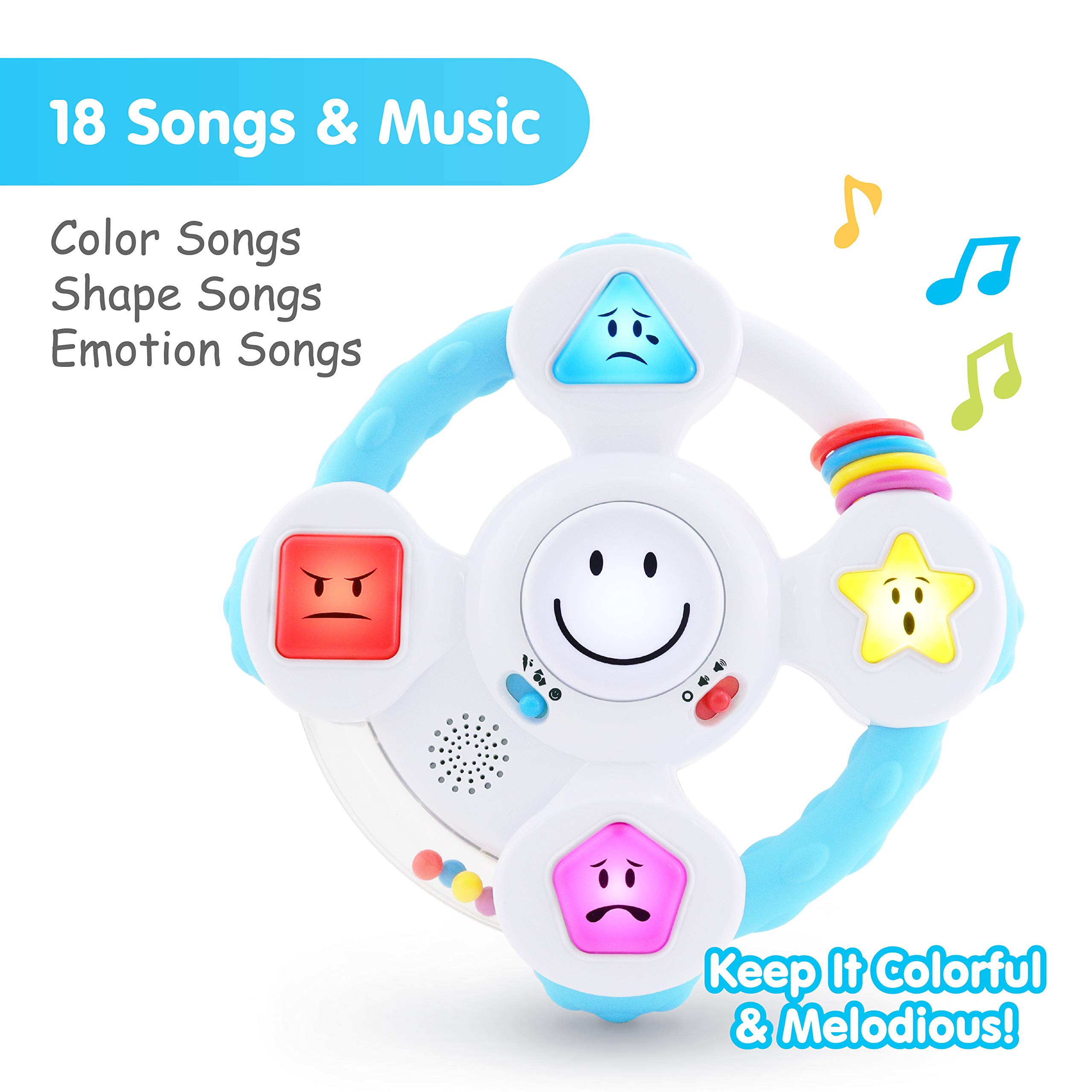 BEST LEARNING My Spin & Learn Steering Wheel - Interactive Educational Light-Up Toddler Toys for 6-36 Months Old Infants & Toddlers - Colors, Shapes, Emotions & Music Game for Babies by BEST LEARNING (Image #4)