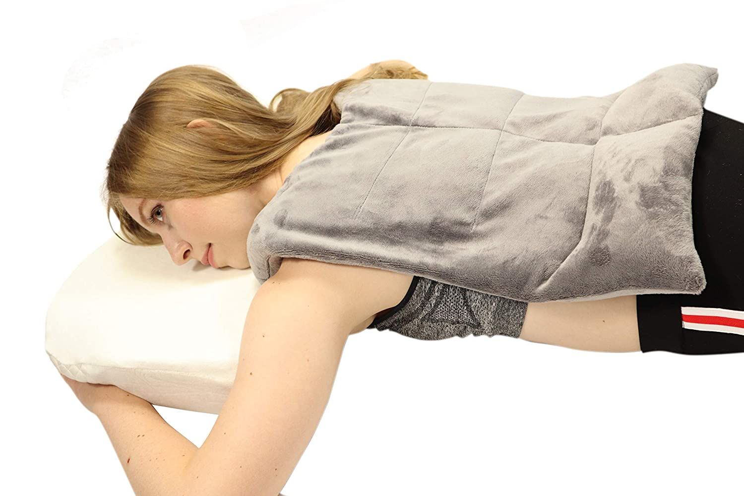 Heated Microwaveable Back Wrap - Herbal Hot/Cold Deep Penetrating Herbal Aromatherapy