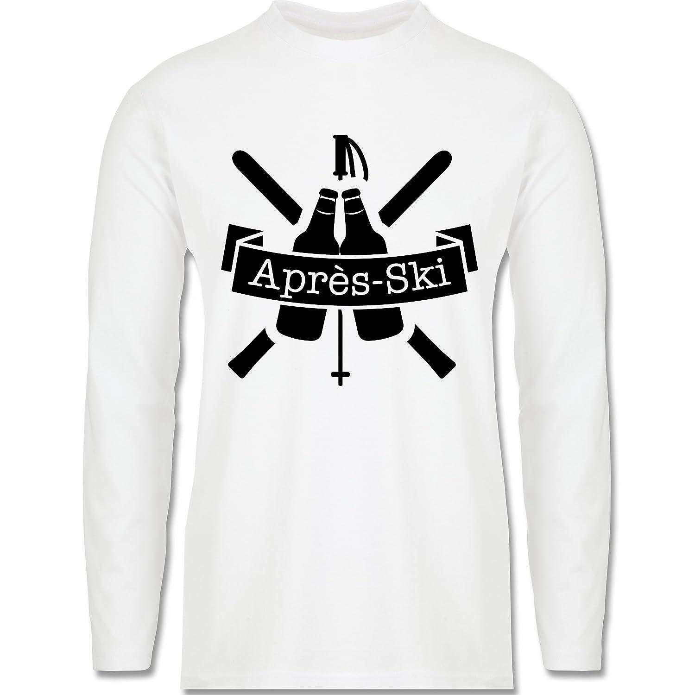 Après Ski - Après Ski Bierflaschen - Longsleeve / langärmeliges T-Shirt für Herren