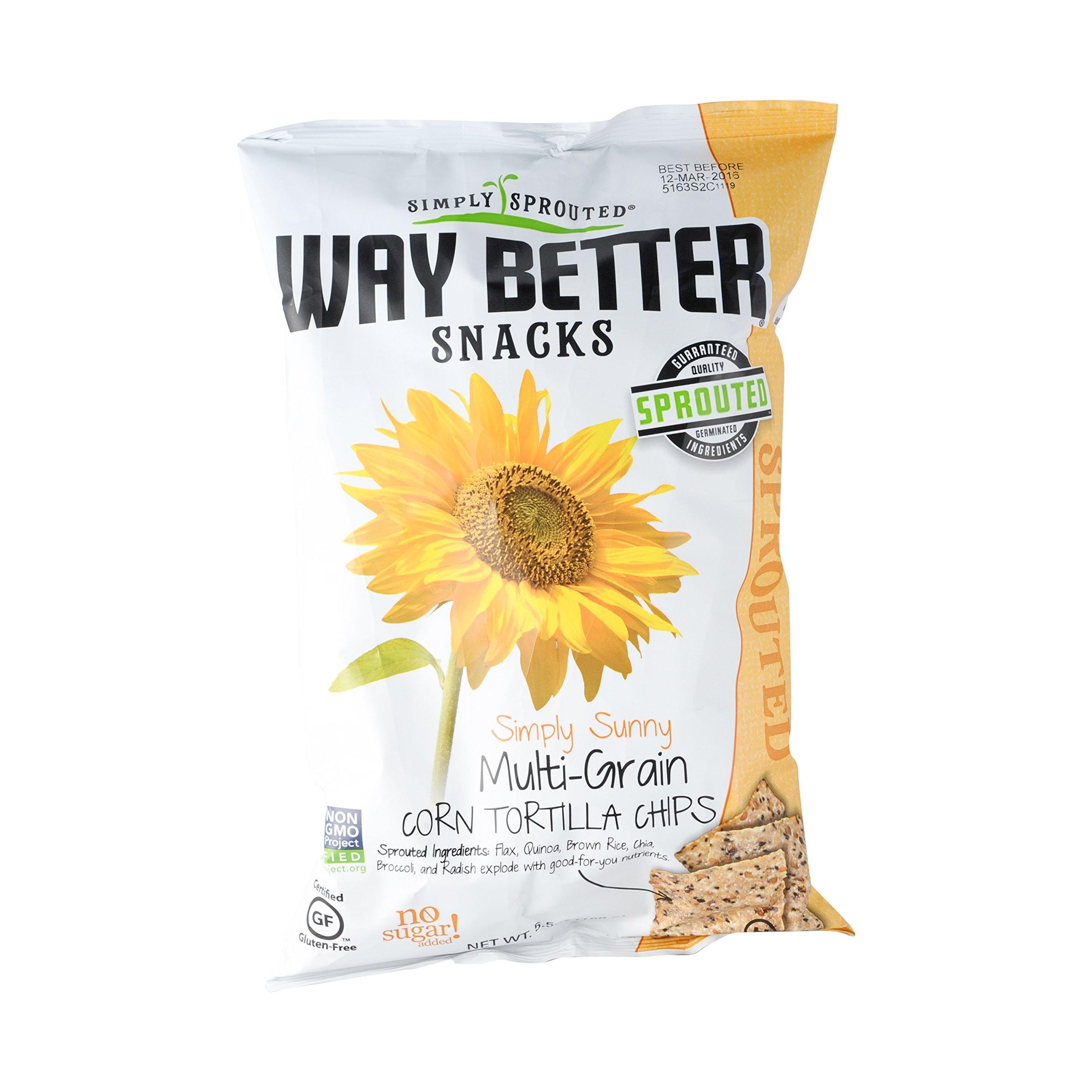 Way Better Snacks Simply Sunng Multigrain Tortilla Chips, 5.5 oz bag (12 Pack) (