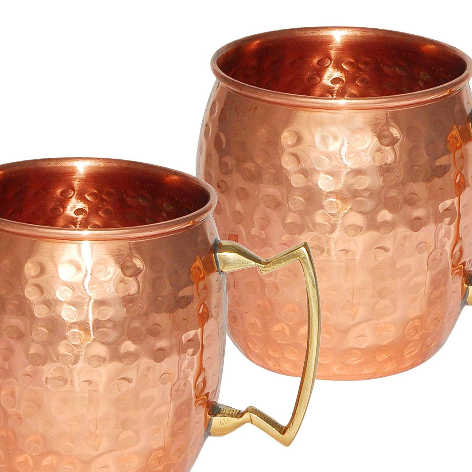 DreamKraft Hamme Copper Moscow Mule Mug Handmade Of Copper With Brass Handle 550 ML Gold by DreamKraft (Image #3)