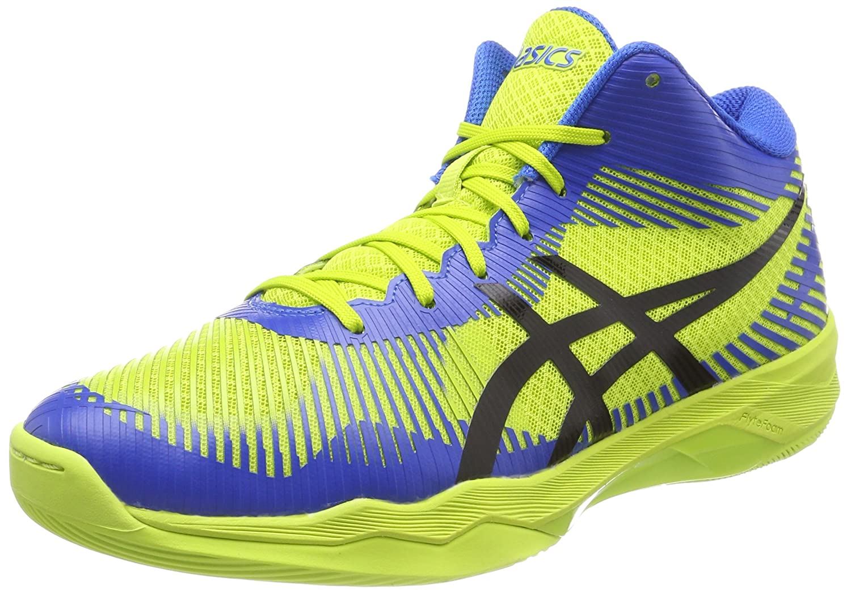 MultiCouleure (Energy vert Directoire bleu noir 7743) 42.5 EU ASICS Volley Elite FF MT, Chaussures de Volleyball Homme