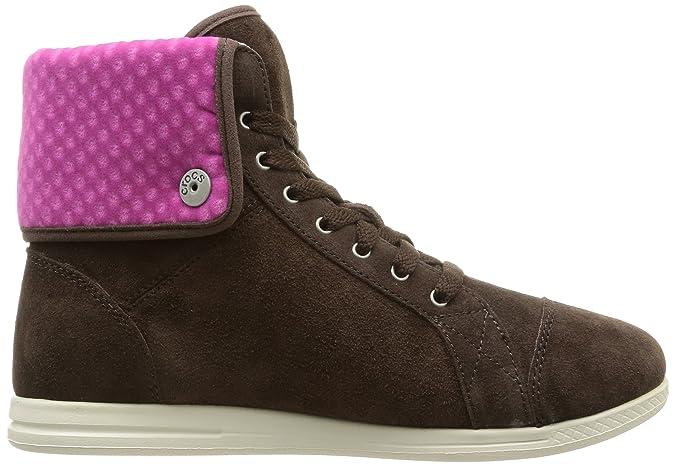 Crocs LoPro Suede Hi-Top Sneaker W, Sneaker, Donna, Marrone (ESFU), 38.5
