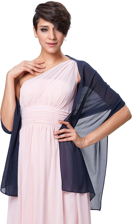 Kate Kasin Damen Sommer Schal f/ür Kleid Sommer Tuch Chiffon Schal in verschiedenen Farben KK229