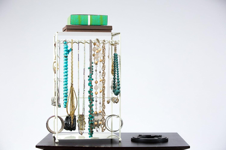 Soporte para joyas con tocadiscos - Collar, pulsera, pendientes ...