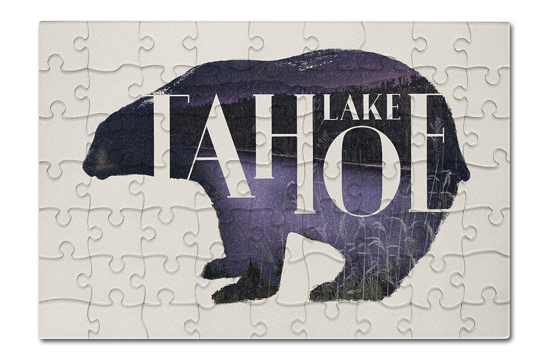 Lake Tahoe – Bear – 二重露出( 8 x 12プレミアムアクリルパズル63ピース)   B076PW32WK, キタナカグスクソン 64bfd54f