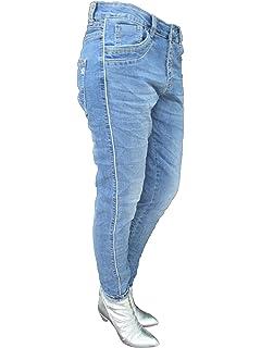 karostar Baggy Copain étirement des Femmes Pantalon Jean rangée ... c9b0a4e47cd1