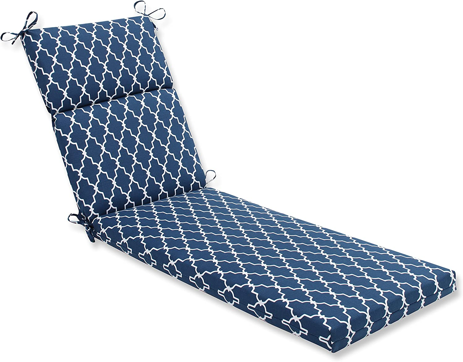 Pillow Perfect Outdoor Indoor Garden Gate Chaise Lounge Cushion, Navy