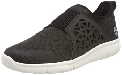 Timberland Damen Boltero Slip on Sneaker, Schwarz (Black Front 001), 37,5 EU