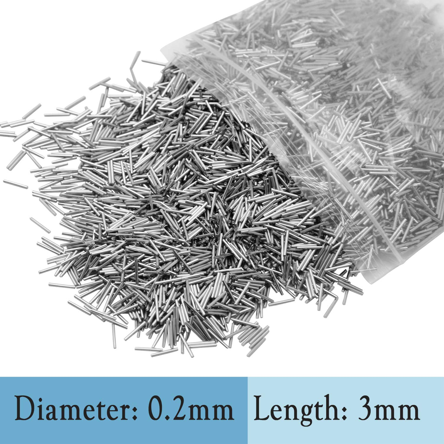 STAINLESS STEEL FINISHING PINS for Magnetic Tumbler Polisher Polishing Pins 0.20 x3mm B00YWJLHY8