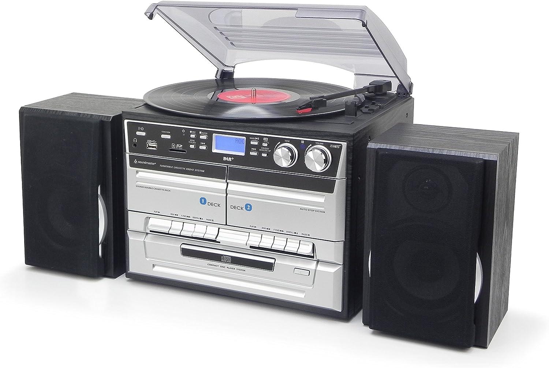 Soundmaster MCD5500SW Home Audio Mini System 5W Negro Sistema de Audio para el hogar - Microcadena (Home Audio Mini System, Negro, 2 Deck(s), 5 W, Dab+,UKW, MP3,WAV)