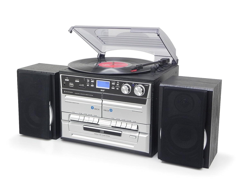 Soundmaster MCD5500SW Home Audio Mini System 5W Negro Sistema de Audio para el hogar - Microcadena (Home Audio Mini System, Negro, 2 Cubierta(s), 1 Discos, 5 W, Dab+,UKW)