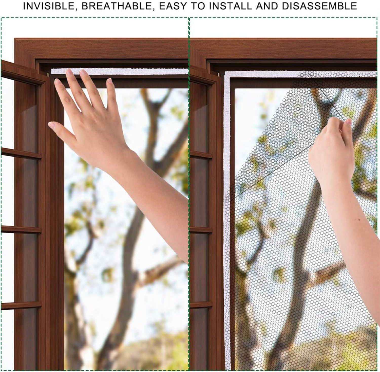 negro 1,3 m x 1,5 m 5 paquetes de redes mosquiteras para ventana con 5 rollos de cintas autoadhesivas kit de malla de malla para ventana