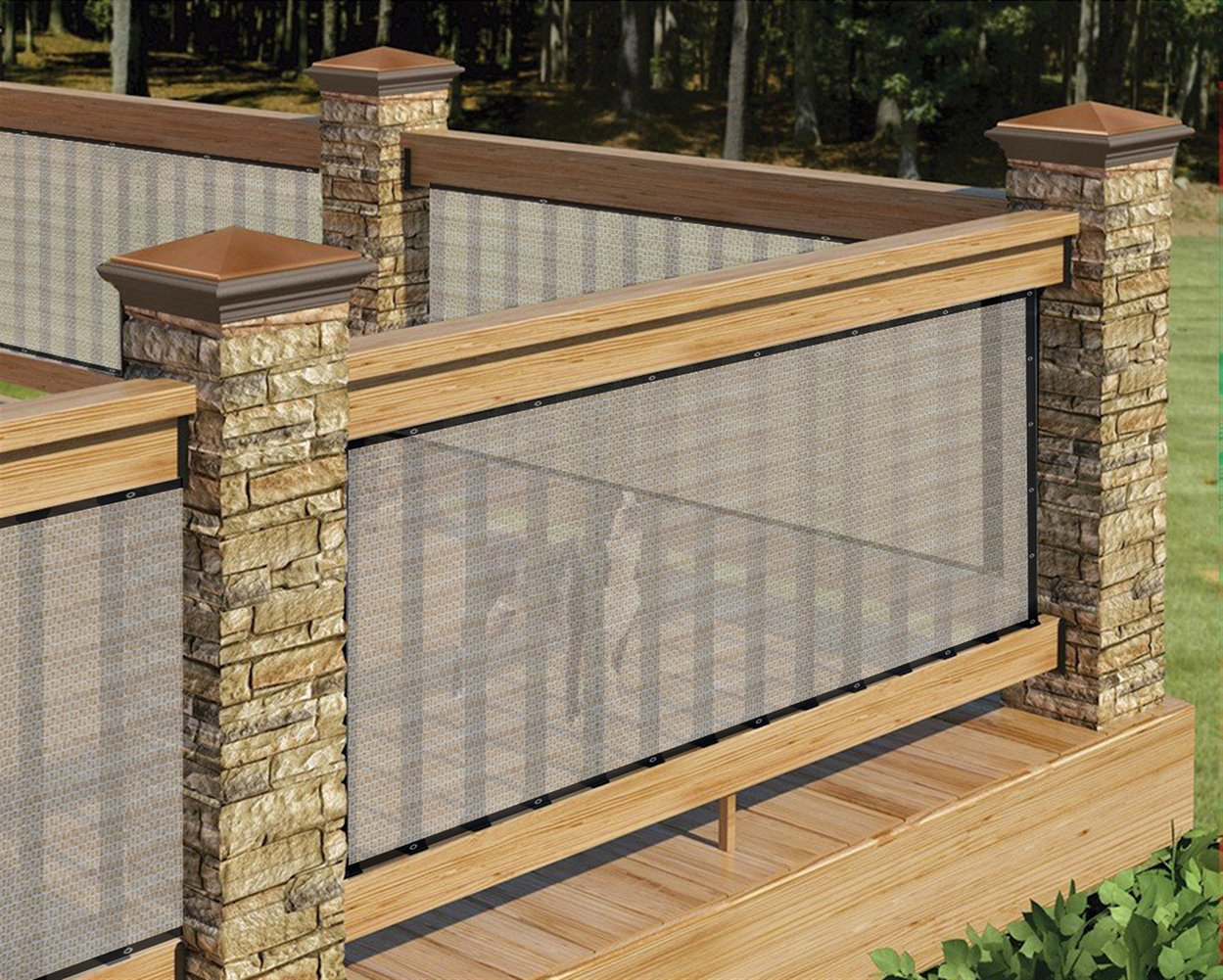 LIVEINU Frangivista e Telo Frangivento Protezione per Balconi con Occhiell Copertura per Balcone Terrazzo Giardino 75x600cm Giallo ISA-OUSL-SSK100-2-75X600cm