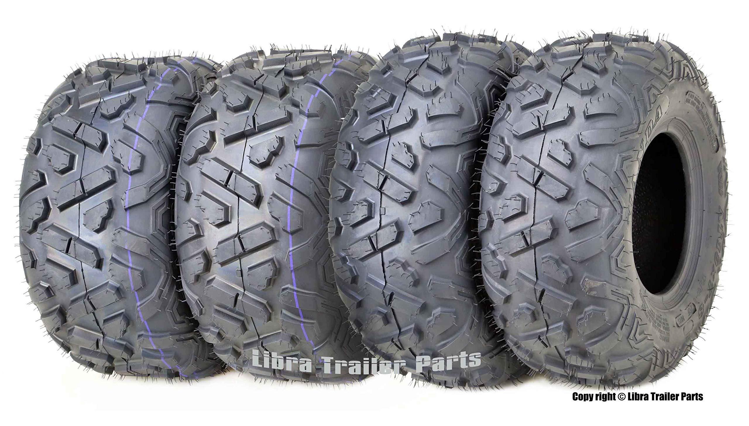 Set of 4 WANDA ATV Tires 19X7-8 Front & 18X9.5-8 4PR Rear Big Horn Style ...