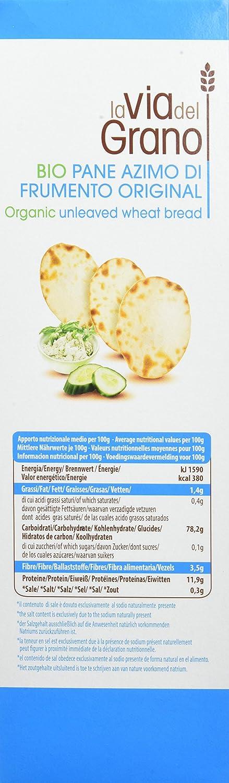 Probios La Via Del Grano Pan Ázimo Original - 10 paquetes: Amazon.es: Alimentación y bebidas