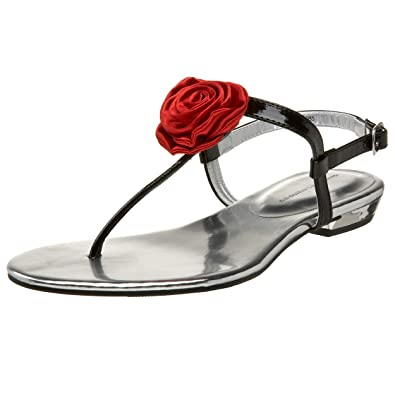 03d39221b Chinese Laundry Women s Bloom Flat Sandal Thong with Rosette