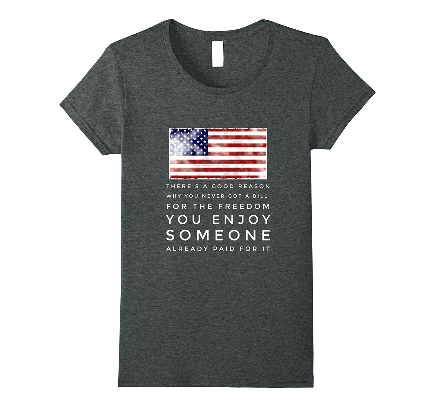 Someone already paid for your freedom cops veterans t-shirt