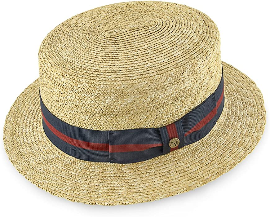 36d50f348fa Classic - Walrus Hats Natural Straw Boater Hat - H7005 at Amazon ...