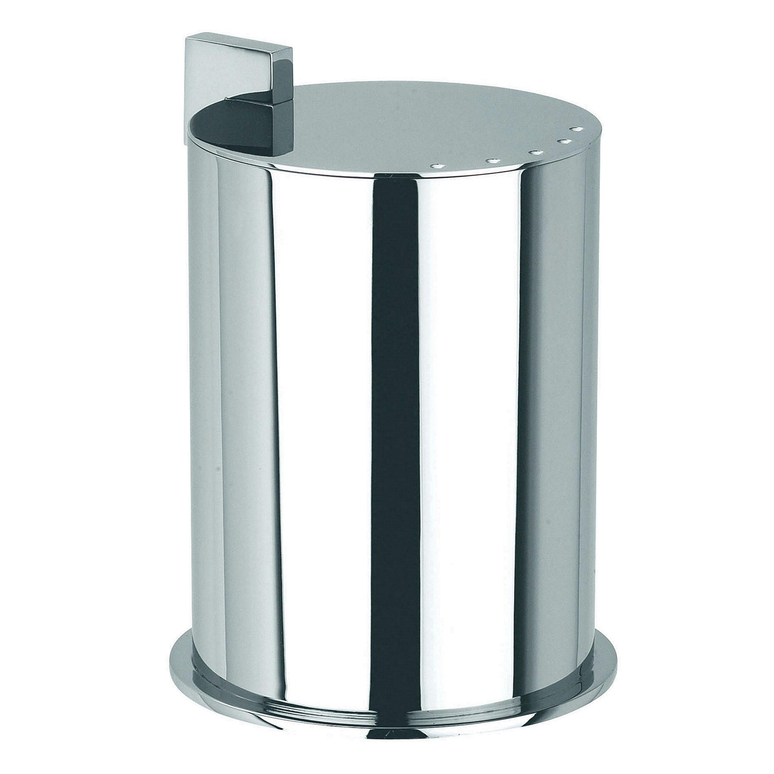 Ginger Kubic Solid Brass Vanity Jar No. 2, Large, Polished Chrome
