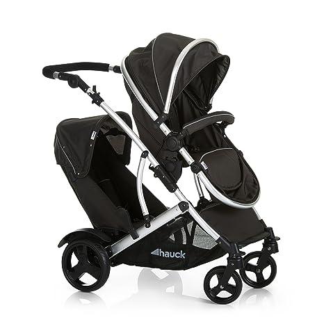 Hauck Duett 2 - carro gemelar, silla de paseo gemelar, capazo desde nacimiento, transformacion a sillita, asiento giratorio, asiento desmontable, ...
