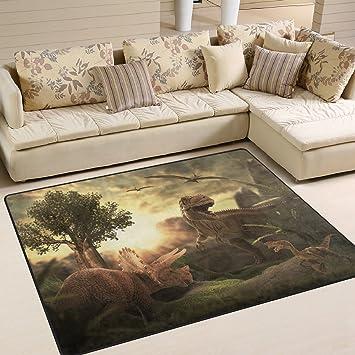 Jstel Ingbags Super Soft Modern Giant Dinosaur D Area Rugs Living Room Carpet Bedroom Rug For