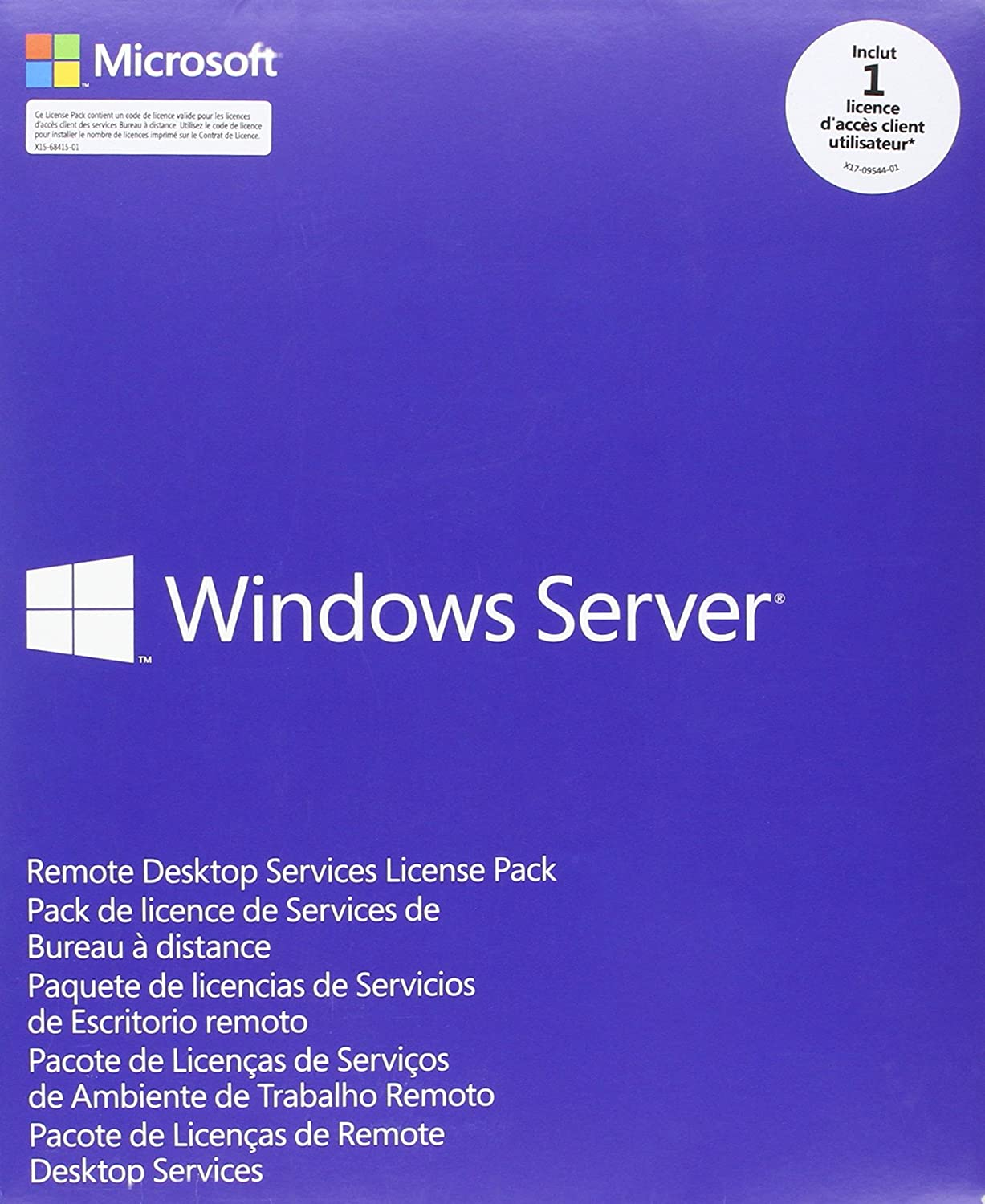 Microsoft Windows Remote Desktop Services CAL 2012 French MLP User CAL