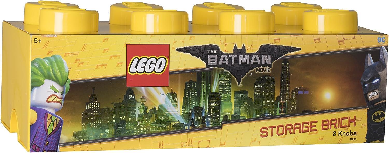 LEGO 4004 Ladrillo de Almacenamiento de 8 espigas Batman, Caja de almacenaje apilable, 12 l, Amarillo Brillante, 50 x 25 x 18 cm: Amazon.es: Hogar