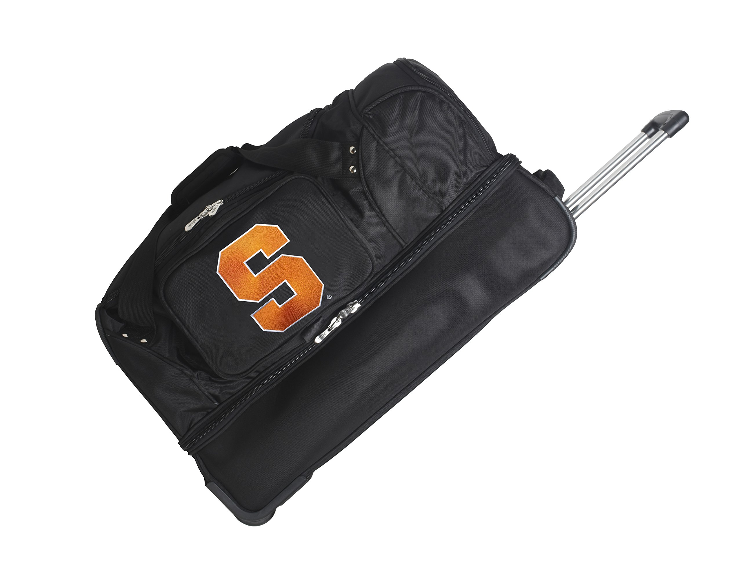 NCAA Syracuse Orange Rolling Drop-Bottom Duffel Bag, 27 x 16 x 14'', Black