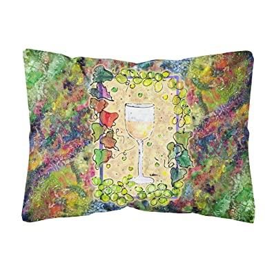 Caroline's Treasures 8617PW1216 Wine Canvas Fabric Decorative Pillow, 12H x16W, Multicolor : Garden & Outdoor